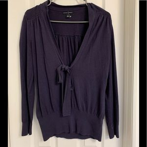 Banana republic perfect bow sweater blouse purple